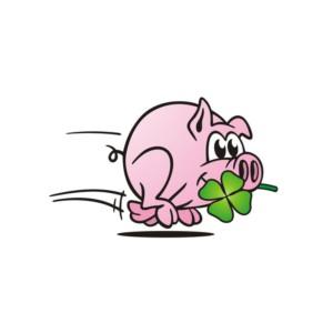 etikett-gluecksschwein-mit-kleeblatt